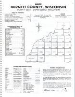 Index Map, Burnett County 1981
